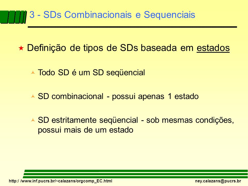 3 - SDs Combinacionais e Sequenciais