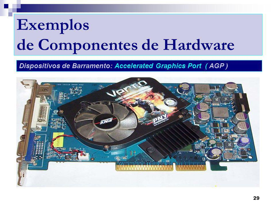 Exemplos de Componentes de Hardware