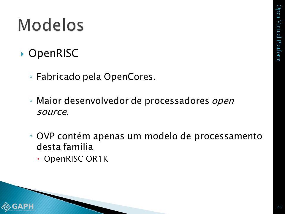 Modelos OpenRISC Fabricado pela OpenCores.