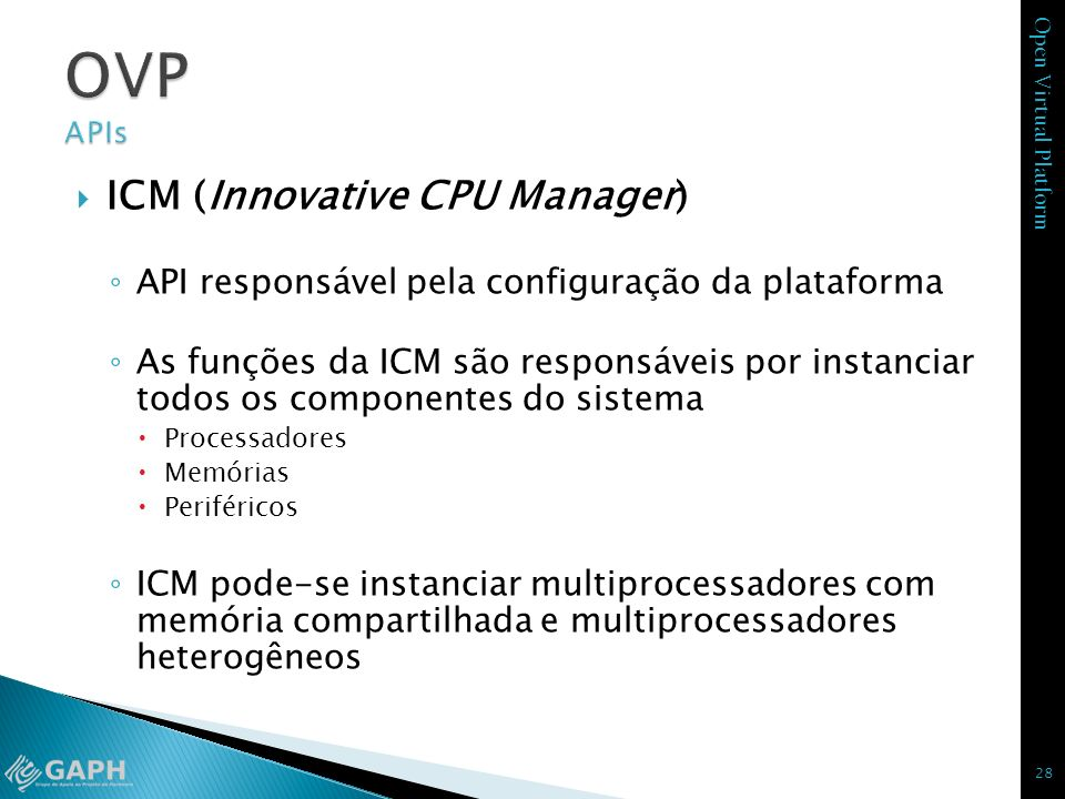 OVP APIs ICM (Innovative CPU Manager)
