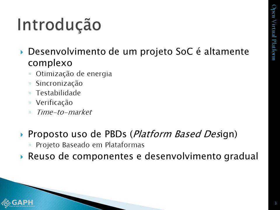 Introdução Desenvolvimento de um projeto SoC é altamente complexo
