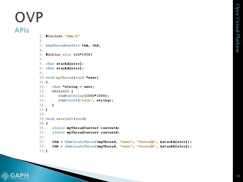 OVP APIs bhmWaitDelay – pausa a thread com parametro em microsegundos
