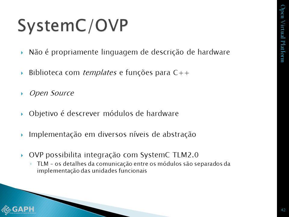 SystemC/OVP Não é propriamente linguagem de descrição de hardware