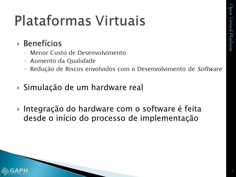 Plataformas Virtuais Benefícios Simulação de um hardware real