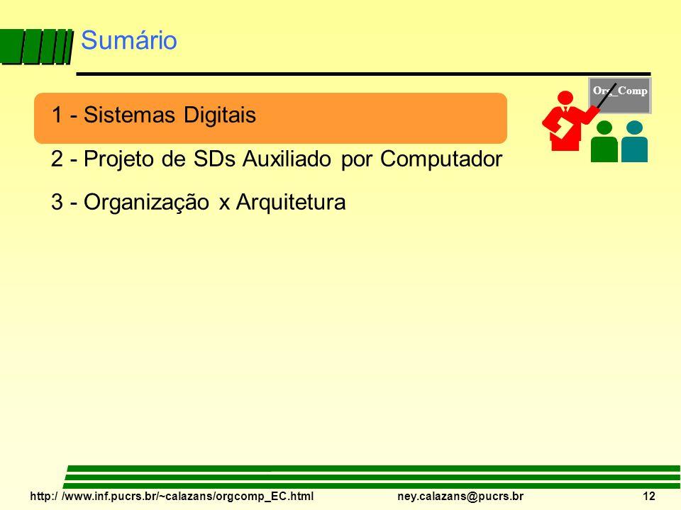 Sumário 1 - Sistemas Digitais