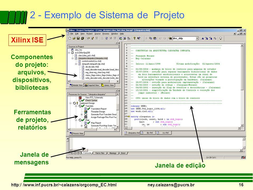2 - Exemplo de Sistema de Projeto