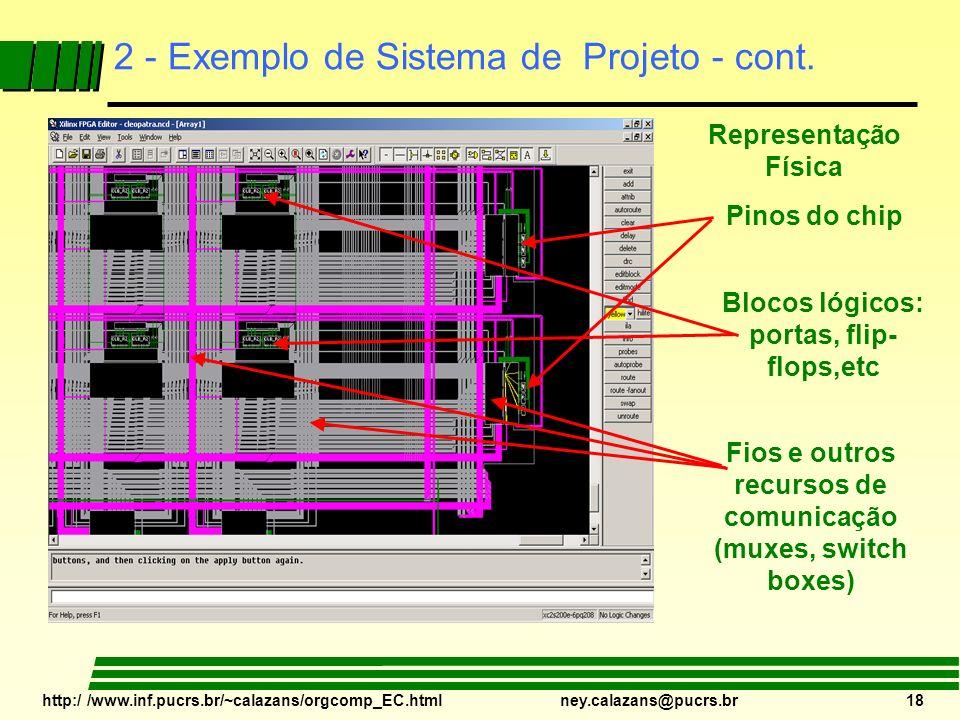2 - Exemplo de Sistema de Projeto - cont.