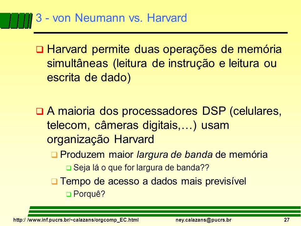 3 - von Neumann vs. Harvard