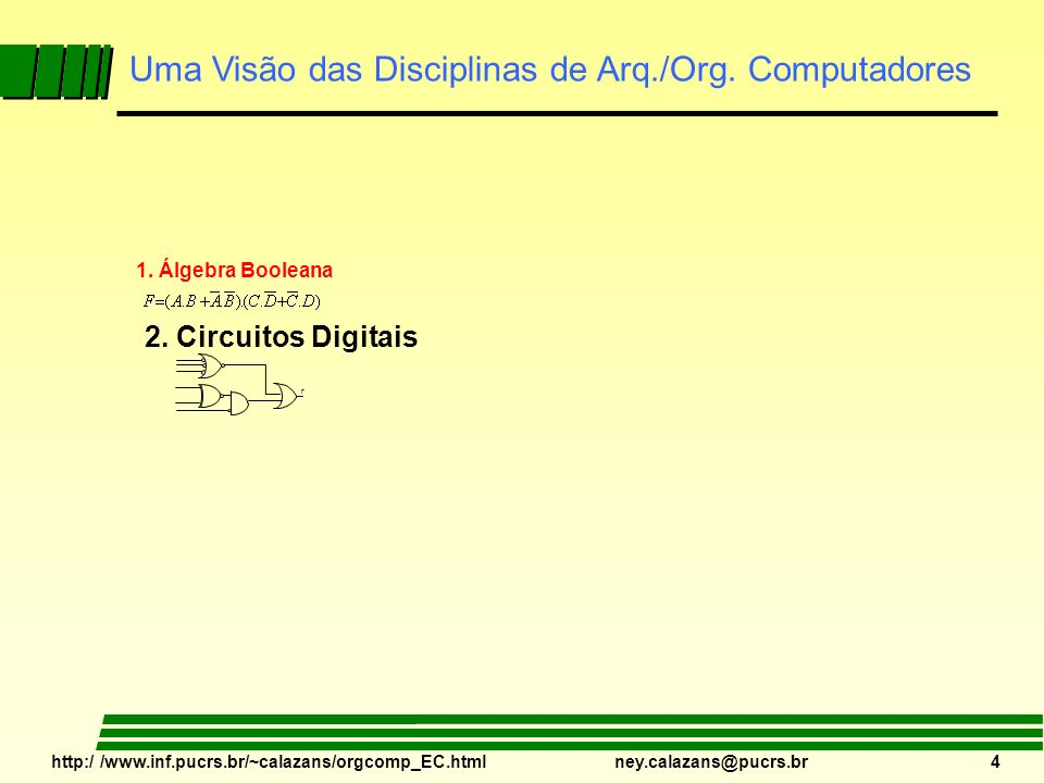 Uma Visão das Disciplinas de Arq./Org. Computadores