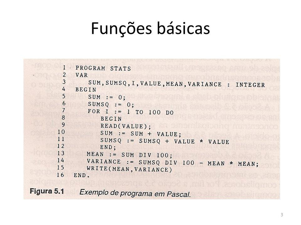 Funções básicas