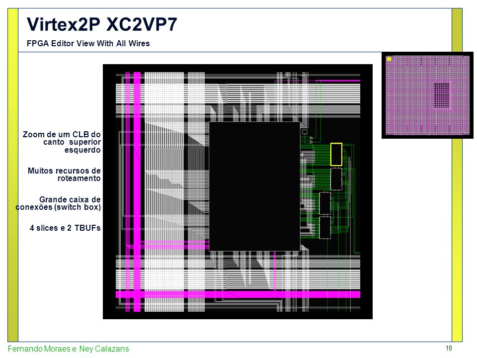 Virtex2P XC2VP7 FPGA Editor View With All Wires