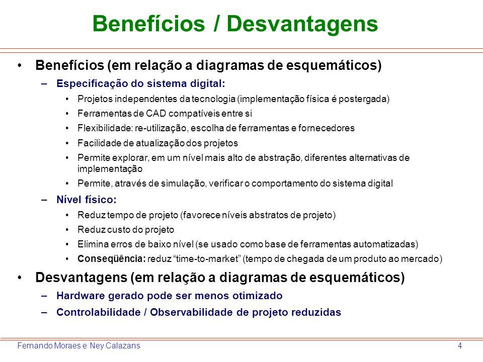Benefícios / Desvantagens
