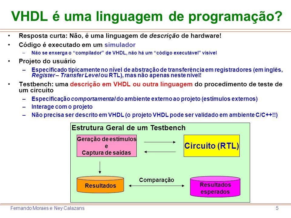 VHDL é uma linguagem de programação
