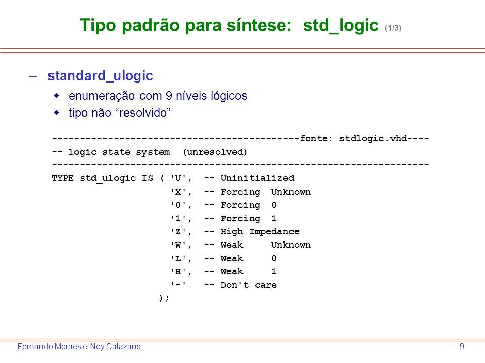 Tipo padrão para síntese: std_logic (1/3)