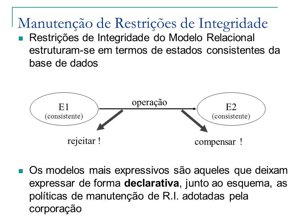 Manutenção de Restrições de Integridade