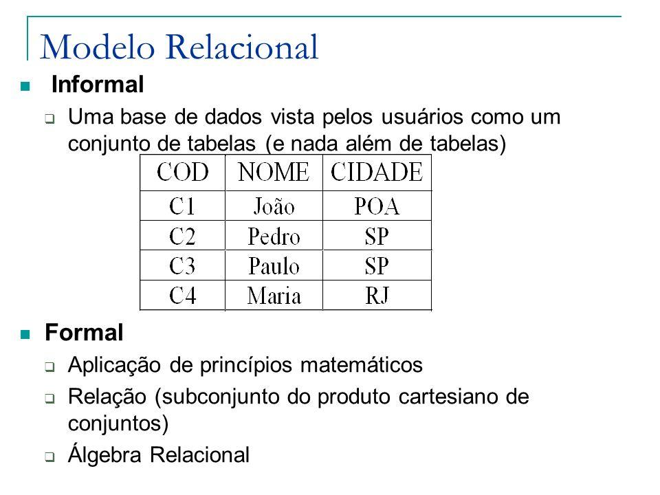 Modelo Relacional Informal Formal