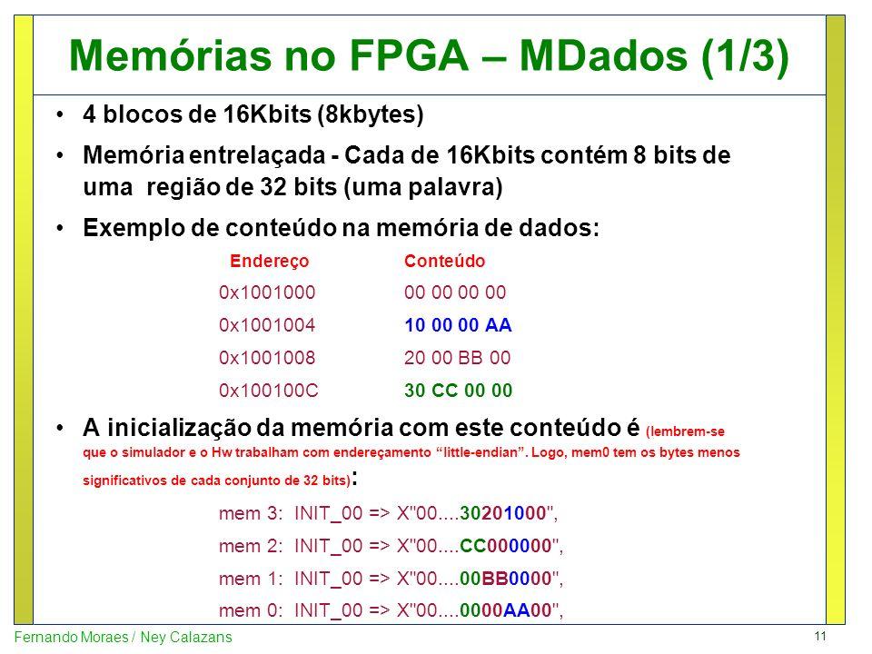 Memórias no FPGA – MDados (1/3)