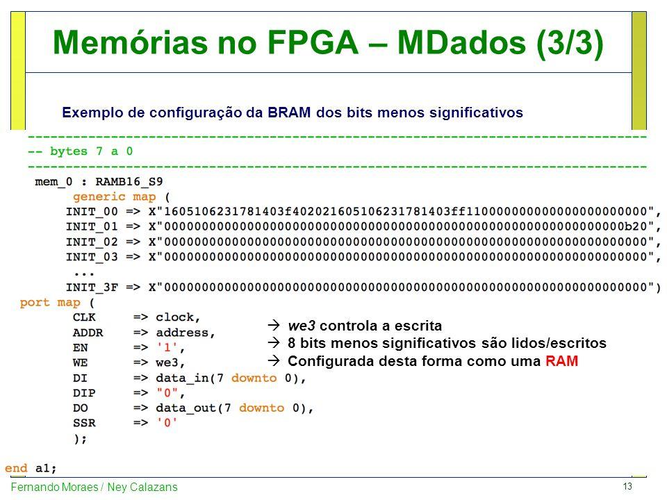 Memórias no FPGA – MDados (3/3)