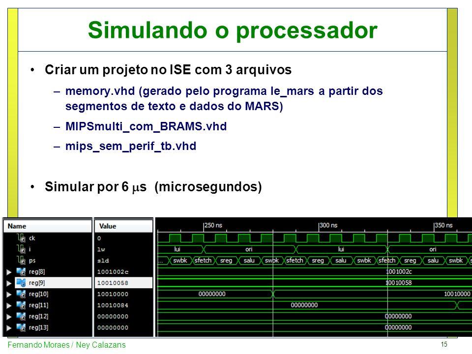 Simulando o processador