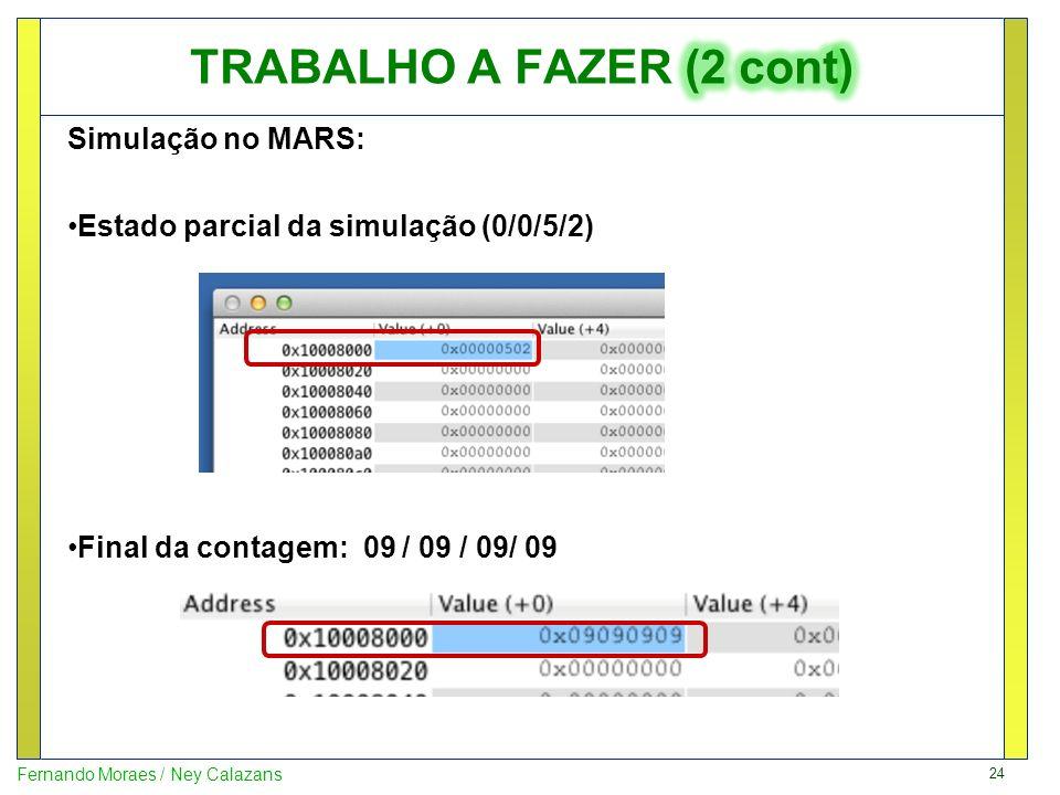 TRABALHO A FAZER (2 cont)