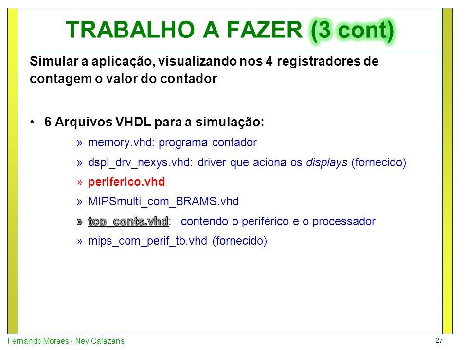 TRABALHO A FAZER (3 cont)