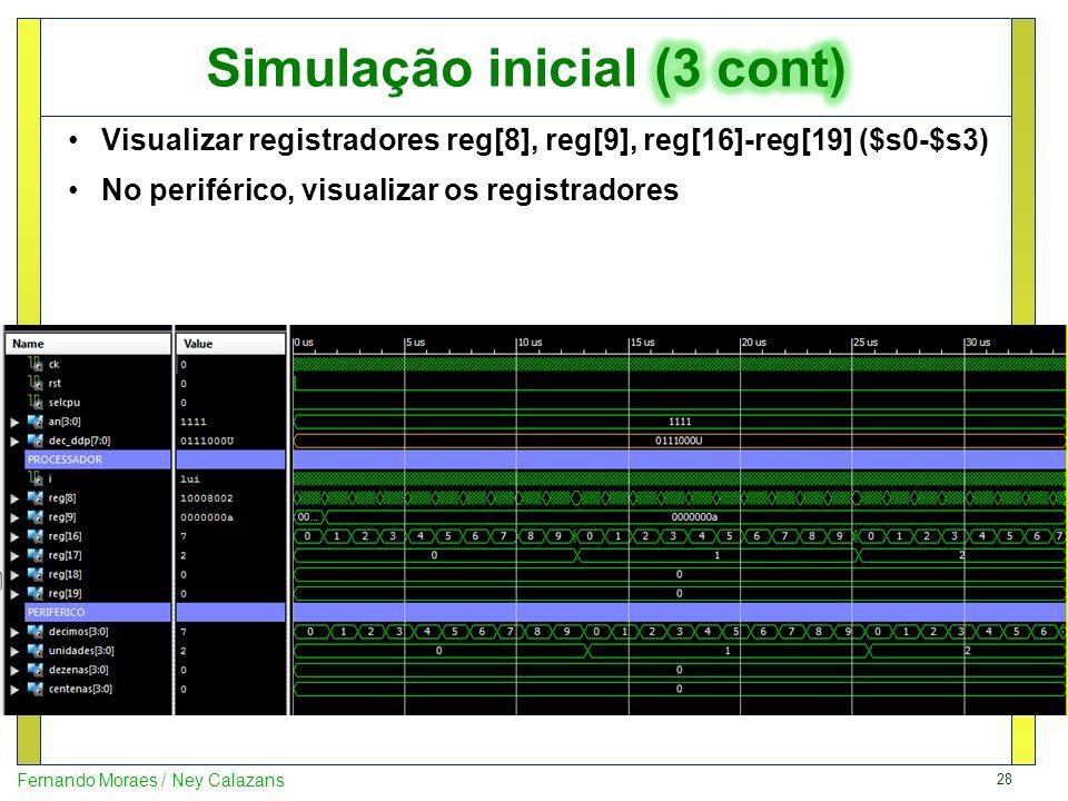 Simulação inicial (3 cont)