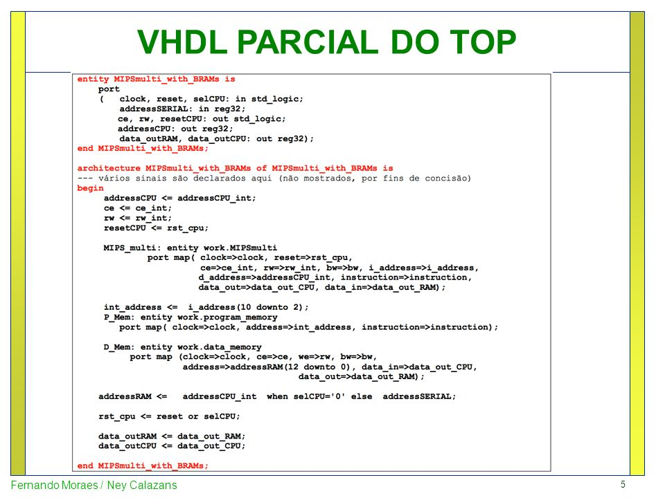 VHDL PARCIAL DO TOP