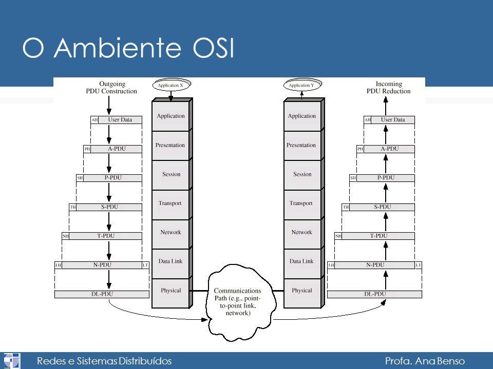 Redes e Sistemas Distribuídos Profa. Ana Benso