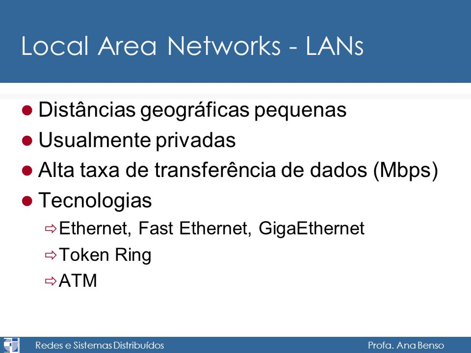 Local Area Networks - LANs