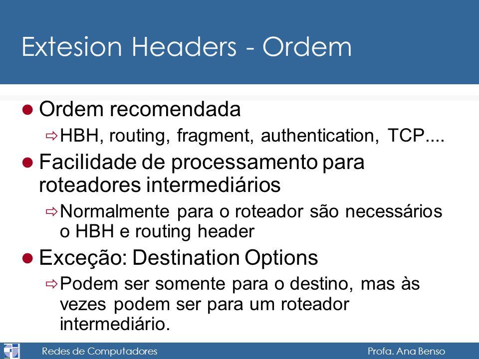 Extesion Headers - Ordem