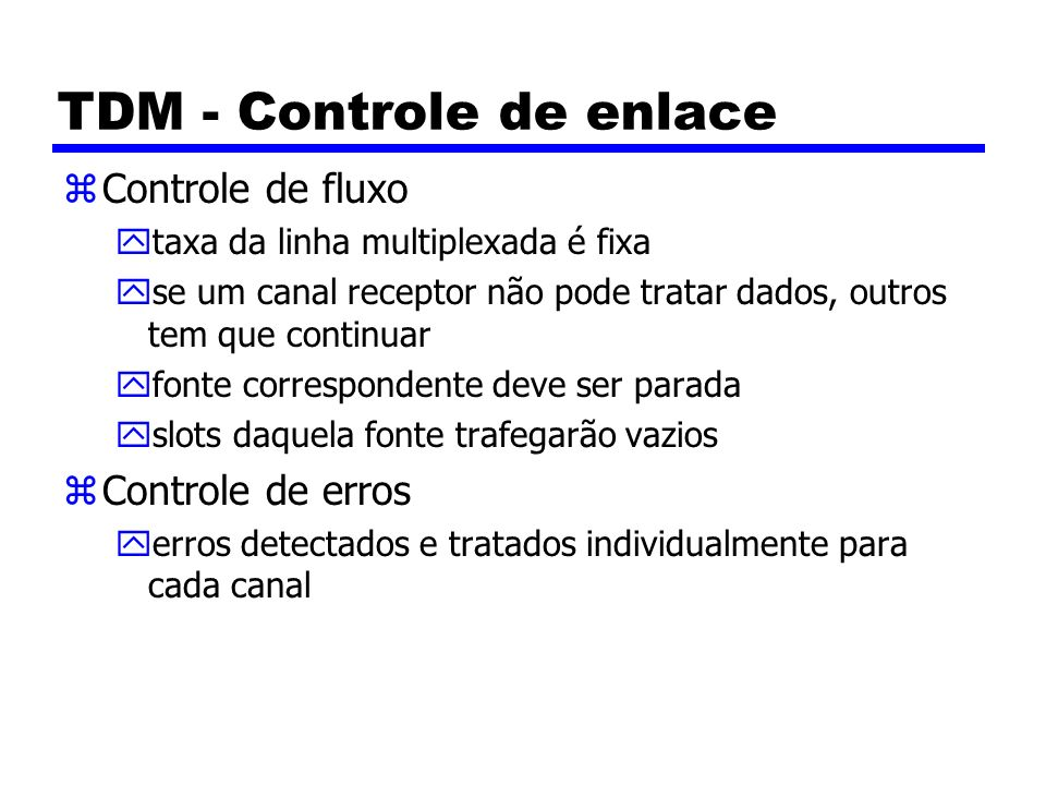 TDM - Controle de enlace