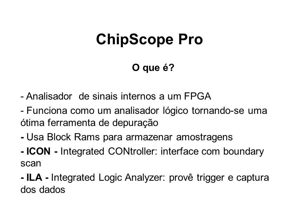 ChipScope Pro O que é - Analisador de sinais internos a um FPGA