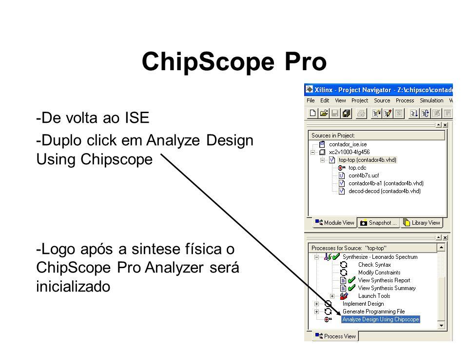 ChipScope Pro De volta ao ISE
