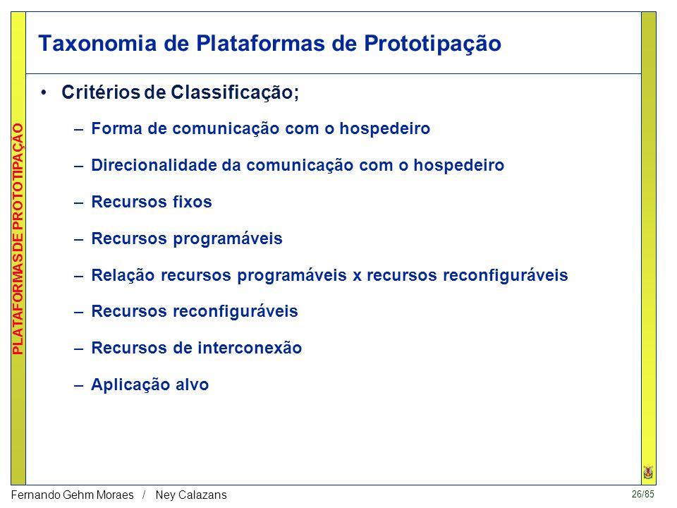 Taxonomia de Plataformas de Prototipação