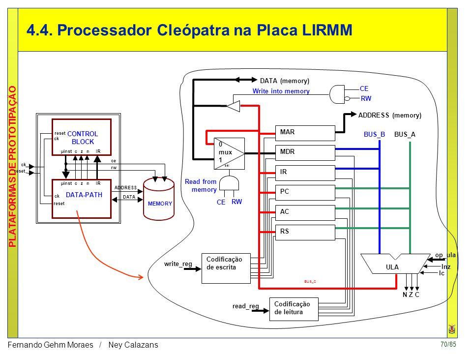4.4. Processador Cleópatra na Placa LIRMM