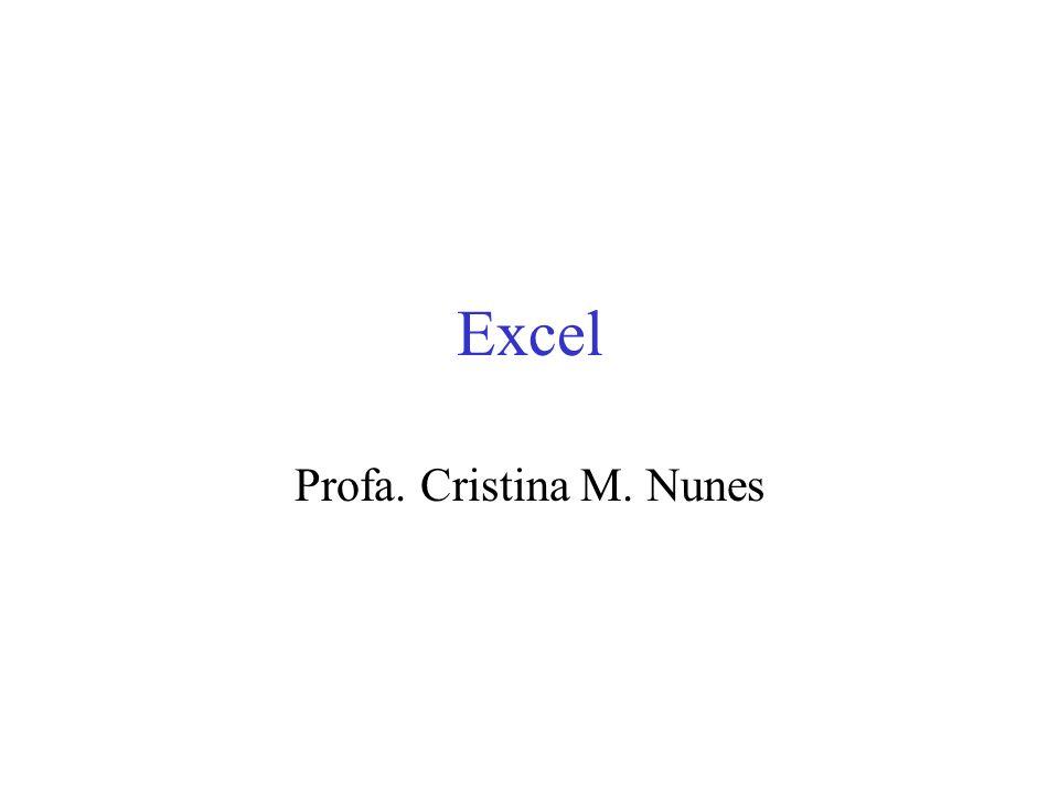 Excel Profa. Cristina M. Nunes