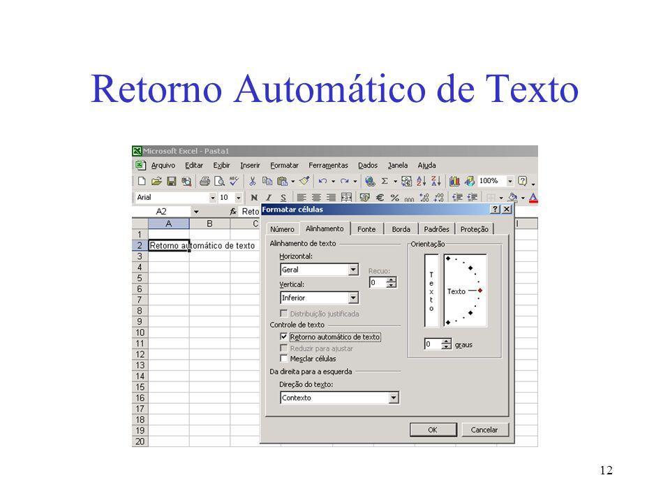 Retorno Automático de Texto