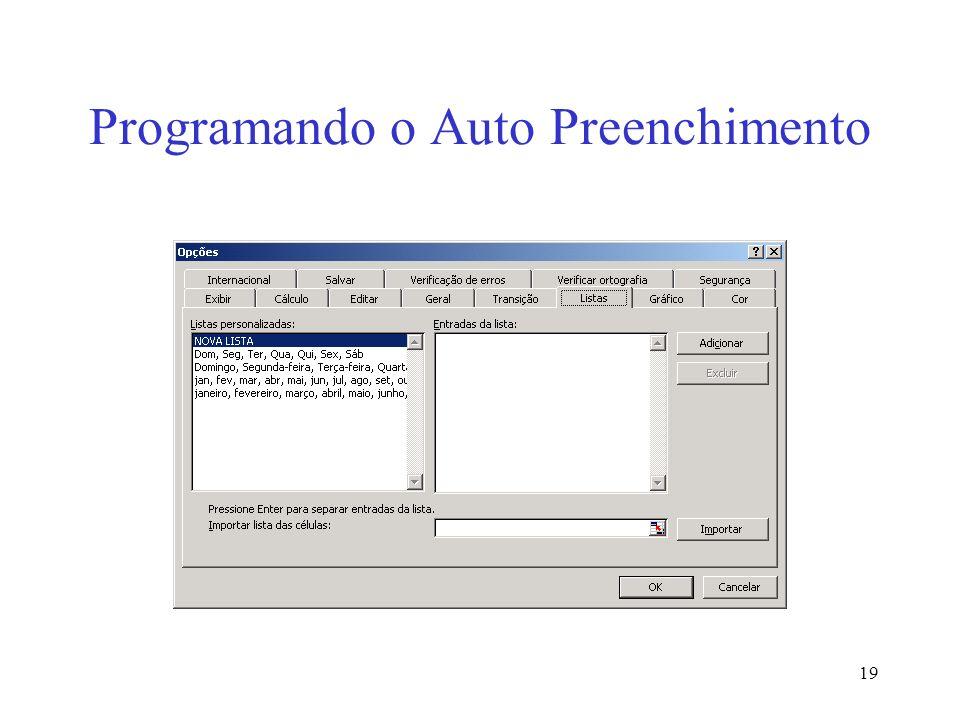 Programando o Auto Preenchimento