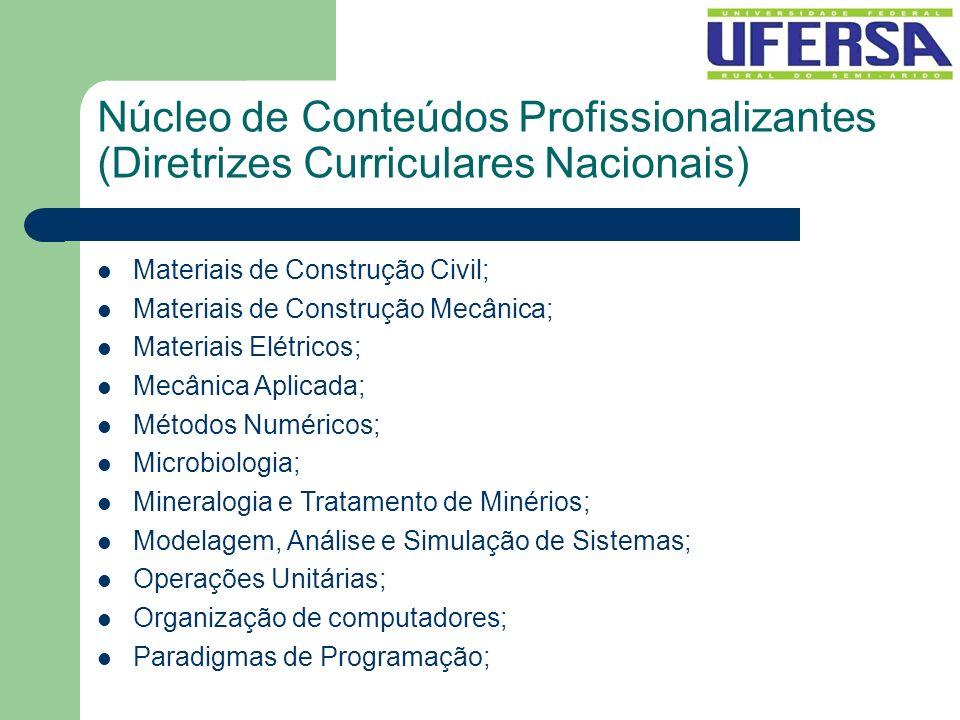 Núcleo de Conteúdos Profissionalizantes (Diretrizes Curriculares Nacionais)