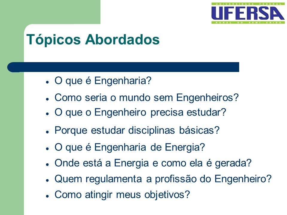 Tópicos Abordados O que é Engenharia