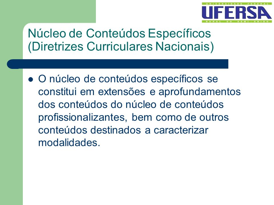Núcleo de Conteúdos Específicos (Diretrizes Curriculares Nacionais)