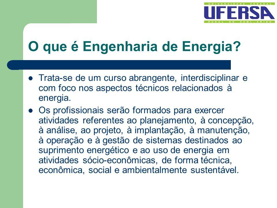 O que é Engenharia de Energia