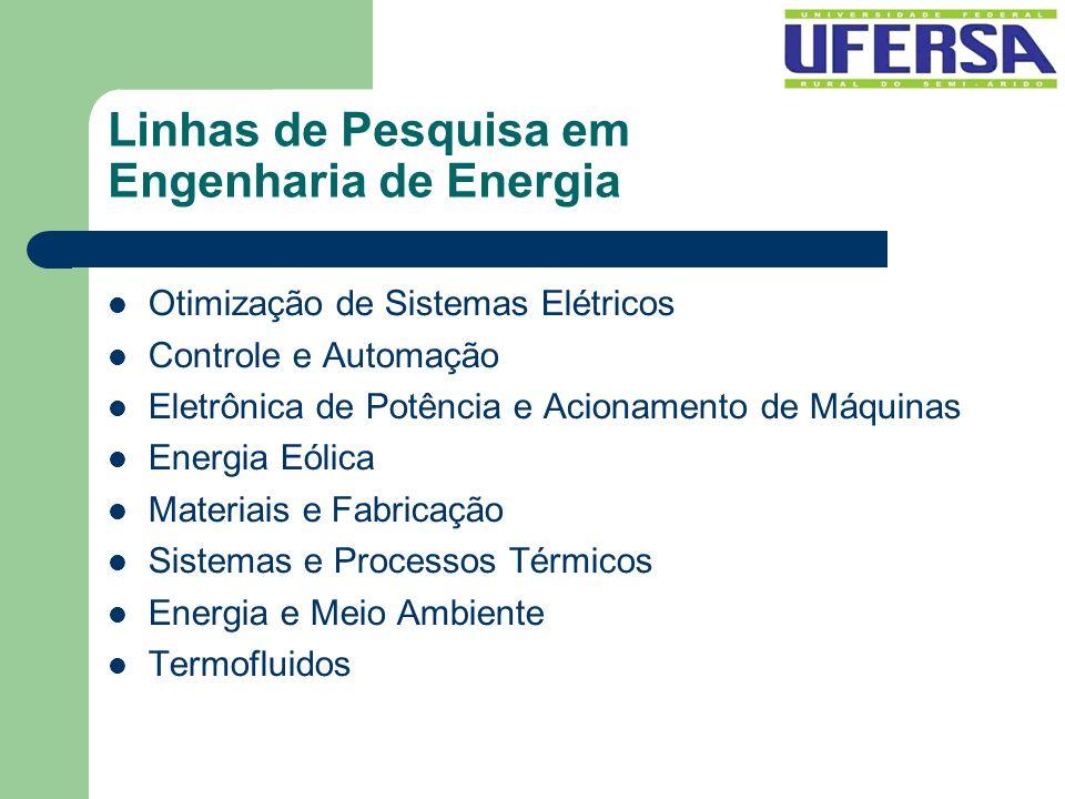 Linhas de Pesquisa em Engenharia de Energia