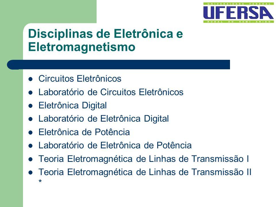 Disciplinas de Eletrônica e Eletromagnetismo