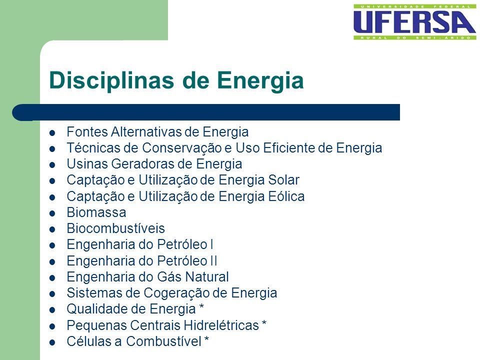 Disciplinas de Energia