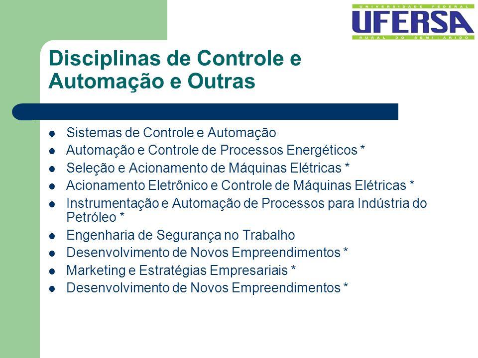 Disciplinas de Controle e Automação e Outras