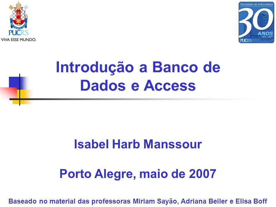 Introdução a Banco de Dados e Access