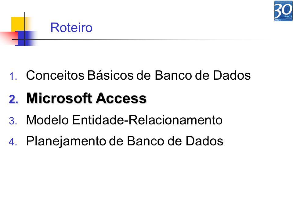 Microsoft Access Roteiro Conceitos Básicos de Banco de Dados
