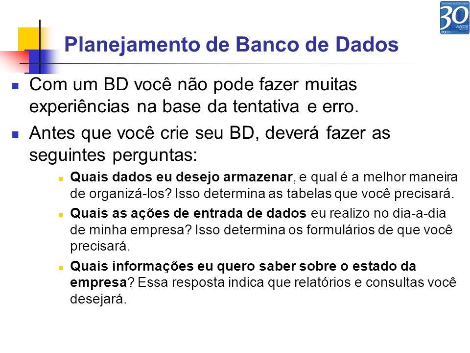 Planejamento de Banco de Dados