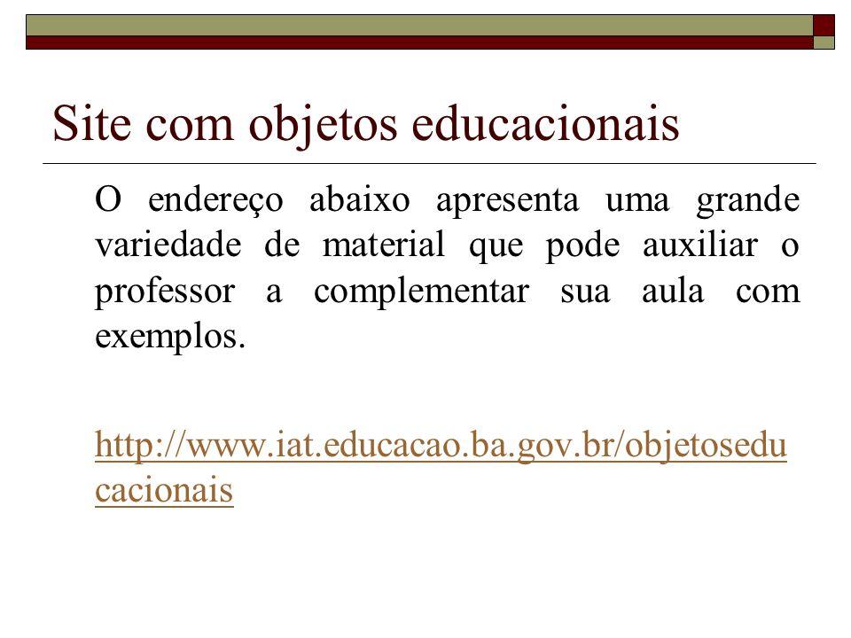 Site com objetos educacionais